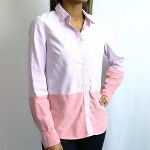 Pink & Pink Colorblock Long Sleeve Shirt